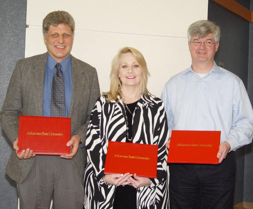 Dr. Gregory Hansen, Ms. Donna Caldwell, and Dr. Joseph Key were named recipients of the 2007-2008 Board of Trustees Faculty Achievement Awards.