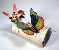 """Butterfly and Flower"" by Ann Woods and Dean Lucker. Photo courtesy of the Arkansas Arts Center."