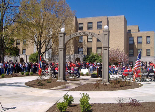 Arkansas State University-Jonesboro opened its Centennial Celebration with a re-dedication of the historic arch, the oldest extant structure on campus, at 2 p.m., April 1, 2009. The ceremony took place near Wilson Hall, another venerable building on ASU's historic quadrangle.