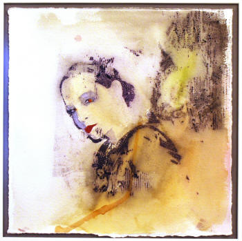 """Coquette, 2009,"" by Nicole Davis, ink and watercolor, will be on display during the Fall 2009 Senior Exhibition at ASU's Bradbury Gallery."
