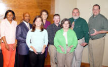 Pictured left to right is Mia Sheppard-Taylor, Dr. Lonnie Williams, Ashley Stripling, Karen Hancock, David Foster, Janis Cook, D.A. Davis and Matt Sanchez.