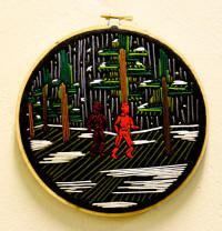 """Dreams and Memories, 3,"" embroidery on felt, is another piece by Amanda Willett, one of the artists in the Bradbury Gallery's 2010 Fall Senior Exhibition, opening Thursday, Dec. 9, at 5 p.m."