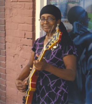 "Essie ""the Blues Lady"" Neal of Sweet Home is one of this year's musicians in residence for the third annual ""Blues in the Schools"" program in West Memphis."