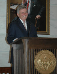 Arkansas Governor Mike Beebe speaks of the importance of Arkansas' four centennial universities.