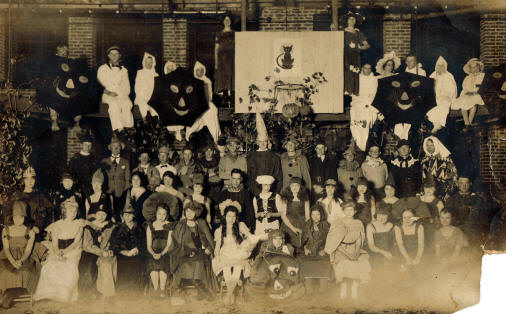 This Halloween party picture from 1920 provides insight into that era's campus life.