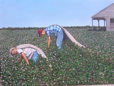 "Nancy LaFarra Wilson's ""Is It Quittin' Time Yet?"" will be on display through the month of September at the Southern Tenant Farmers Museum, Tyronza."