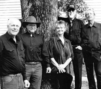 Jeannie and the Guys are, from left, Zyndall Raney,  Marcus Grady, Jeannie Hendrix, Sonny Burgess, and Doug Greeno.