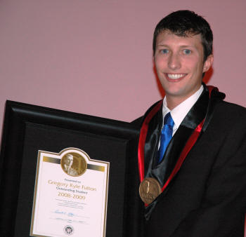 Gregory Kyle Fulton of Jonesboro is the 2009 Wilson Award winner.