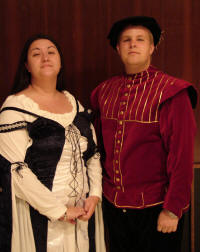 A puissant couple, Crystal Aronson and Jeremy Carter of the royal court, will duly entertain in this year's Madrigal Feaste.