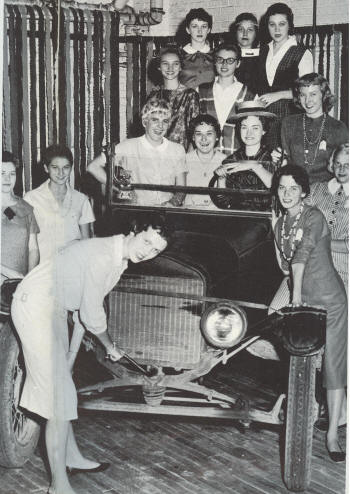 Homecoming 2009 will feature an historic reenactment of this iconic 50-year-old  photograph, using the actual car and featuring many of the women depicted in the original.