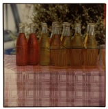 "Rauschenberg's photographic print ""Study for a Chinese Summerhall (Bottles), 1983,"" will be among the works displayed at the Bradbury Gallery, Thursday, March 12, at 5 p.m."
