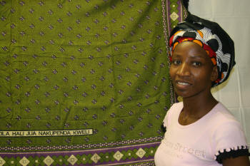 Rose Ong'oa, an Arkansas State University Heritage Studies PhD student researched kanga—a garment worn by women in Zanzibar, East Africa.  The textile has ancient roots as clothing and today serves that purpose and as a means of communication for women.