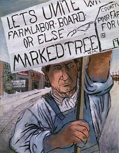 "Ben Shahn's  poster, ""Lest We Forget,"" is used courtesy of the National Archives and Records Administration."
