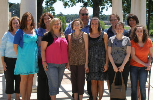 Participants in this year's Summer Writing Institute for Teachers were, from left,