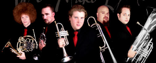 Synergy Brass personnel are, from left, Jon Hurrell, French horn; Greg Lloyd, second trumpet; Bobby Thorp, first trumpet; Jordan Witt, trombone; and Jesse Chavez, tuba.
