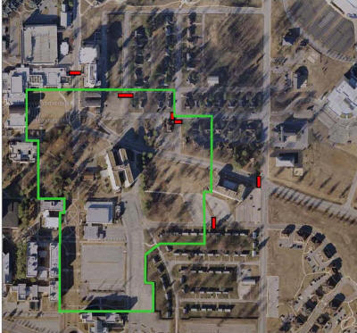 Perimeter of Twin Towers implosion site