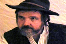 "A still photograph from the film, ""A Pearl's Journey,"" depicts Dr. Jack Zibluk, professor of Journalism, as pearl finder McCaleb."