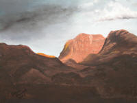 "Eileen Bristol's ""Butte in Utah,"" oil on canvas, 16 x 20 inches"
